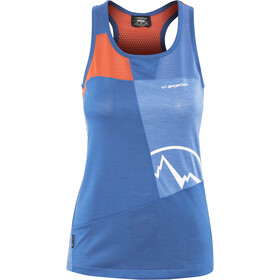 La Sportiva Earn Tank Dame marine blue/lily orange
